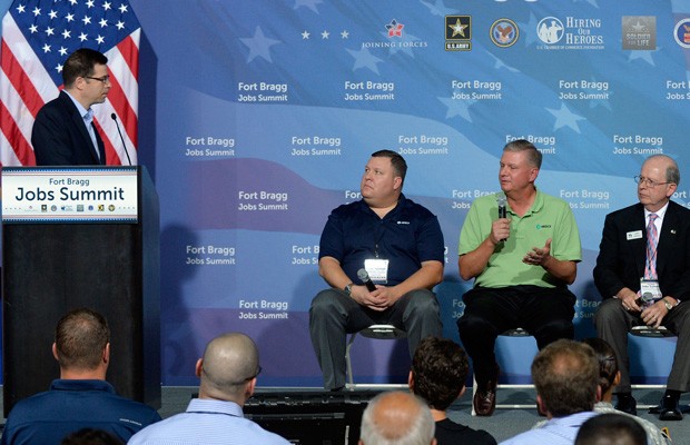 More than 100 employers and community leaders attend the Fort Bragg Veterans Jobs Summit on Tuesday, August 12, 2014, at Fort Bragg, North Carolina.