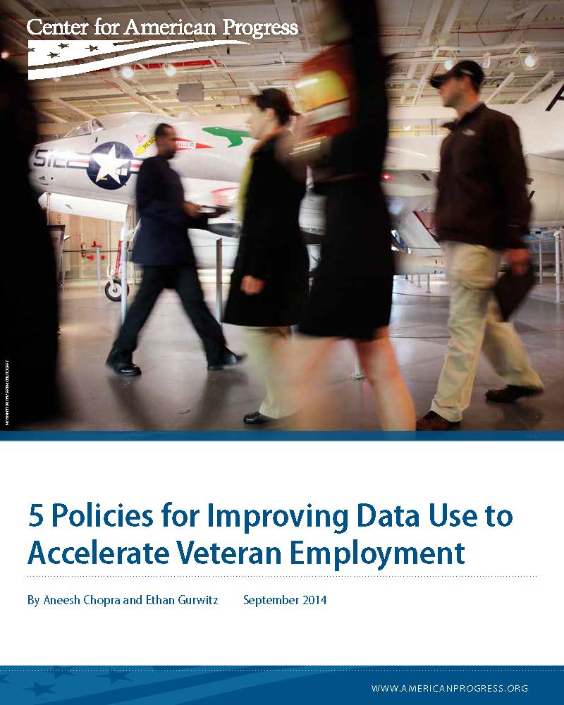 5 Policies for Improving Data Use to Accelerate Veteran Employment