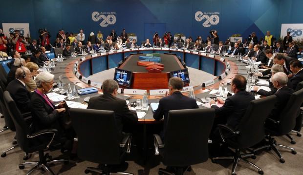 Leaders meet at the G-20 summit