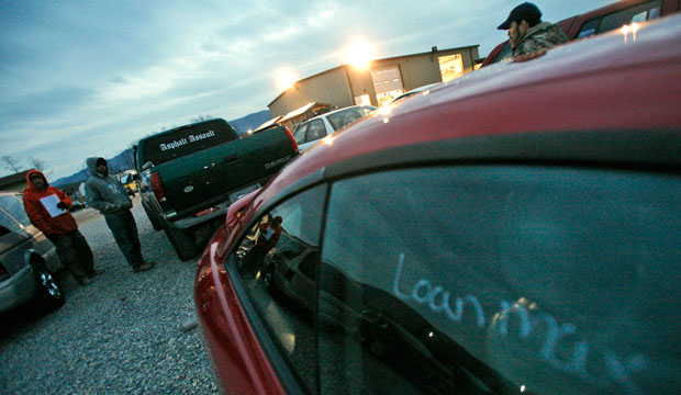 This photo shows the Bryan Buchanan Auto Auction in Montvale, Virginia.