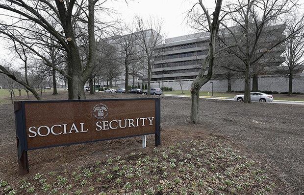 The Social Security Administration's main campus in Woodlawn, Maryland, is shown on January 11, 2013.