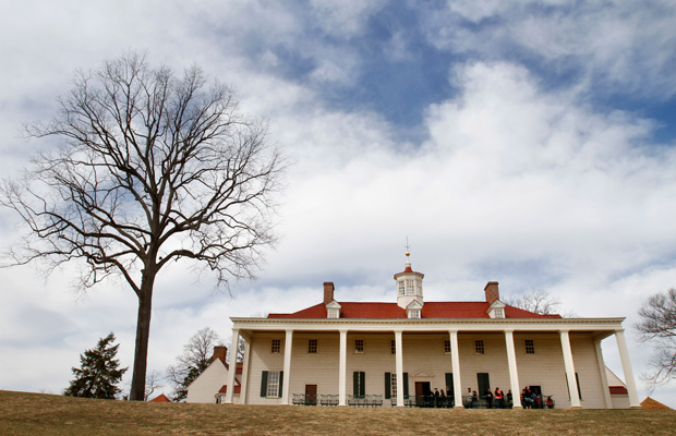 Mount Vernon, the home of America's first president, is seen in Virgina in February 2011.