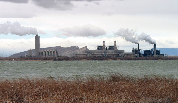 This photo shows the Four Corners Power Plant, one of two coal-fired plants in northwest New Mexico, near Farmington.