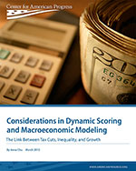 Considerations in Dynamic Scoring and Macroeconomic Modeling