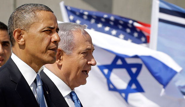 President Barack Obama and Israeli Prime Minister Benjamin Netanyahu tour the Iron Dome defense system in Tel Aviv on March 20, 2013.