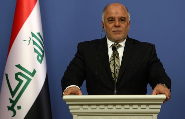Iraqi Prime Minister Haider al-Abadi speaks to the media in Ankara, Turkey, December 2014.
