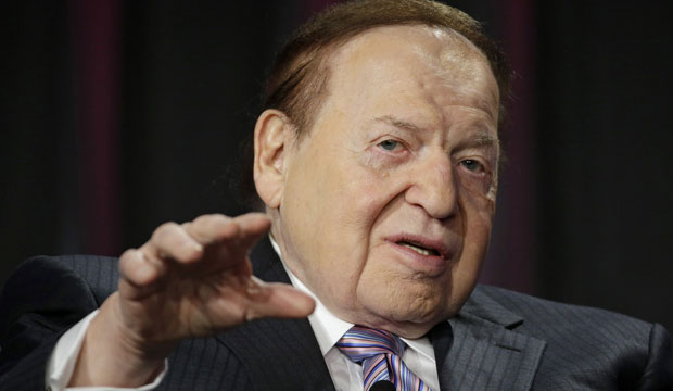 Las Vegas Sands Corp. CEO Sheldon Adelson speaks at the Global Gaming Expo in Las Vegas on October 1, 2014.