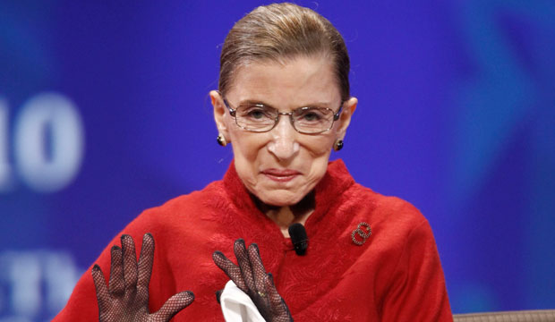 U.S. Supreme Court Justice Ruth Bader Ginsburg speaks at the 2010 Women's Conference in Long Beach, California.