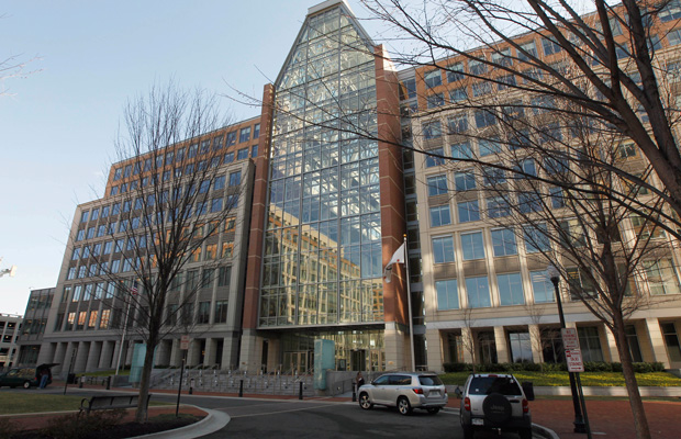 The U.S. Patent and Trademark Office is seen in Alexandria, Virginia, in February 2011.