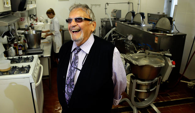David Mintz inside his business, Tofutti, in Cranford, New Jersey, August 2013.
