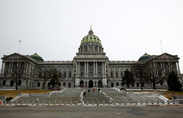 The Pennsylvania Capitol building is seen in  in Harrisburg, Pennsylvania, March 2015.