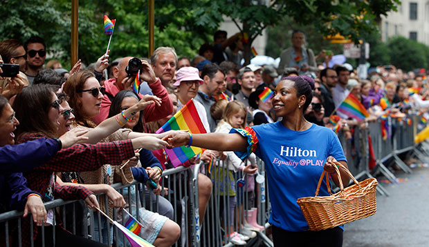 People celebrate Pride Month at NYC Pride, June 28, 2015, in New York.