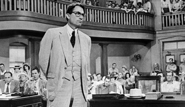 "Gregory Peck is shown as attorney Atticus Finch in a scene from the 1962 movie ""To Kill a Mockingbird,"" January 1962."