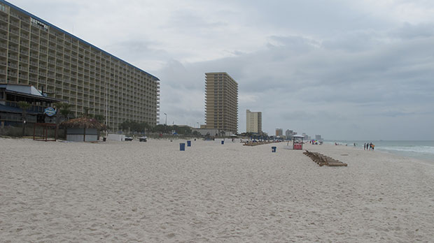 The beach in Panama City, Florida, is seen on April 12, 2015.