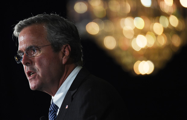 Former Florida Gov. Jeb Bush (R) speaks during a town hall meeting on August 17, 2015, in Columbia, South Carolina.