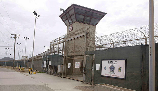 The entrance to Camp 5 and Camp 6 at the U.S. military's Guantanamo Bay detention center is seen at Guantanamo Bay Naval Base in Cuba, June 2014.