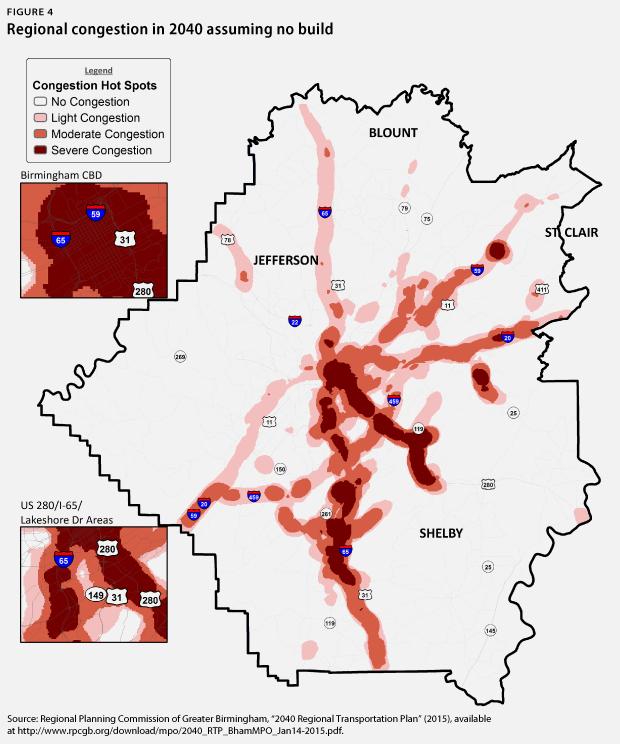 regional congestion in 2040