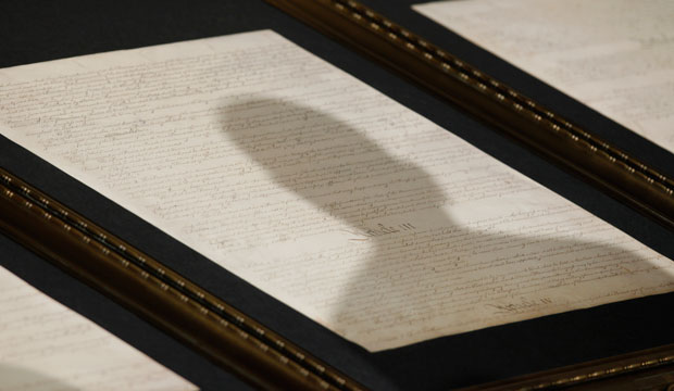 A shadow is cast on the Constitution, May 2009.