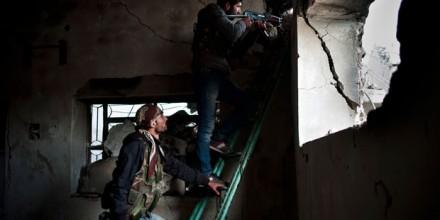 Kurdish peshmerga in Kobani