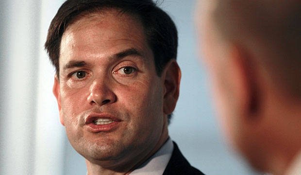 Republican presidential candidate Sen. Marco Rubio (R-FL) speaks at 1871, an entrepreneurial hub for digital startups, July 7, 2015, in Chicago.