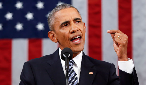 President Barack Obama delivers his State of the Union address on Januray 12, 2016.