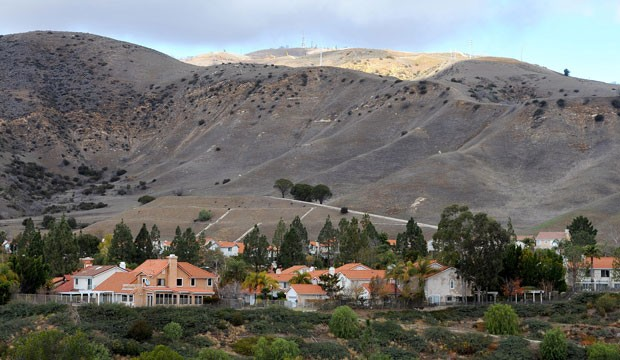 A housing community near a methane leak