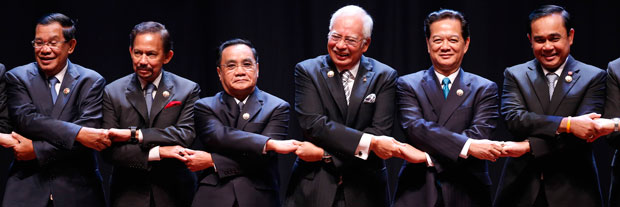 Leaders of the Association of Southeast Asian Nations at 2015 ceremony.