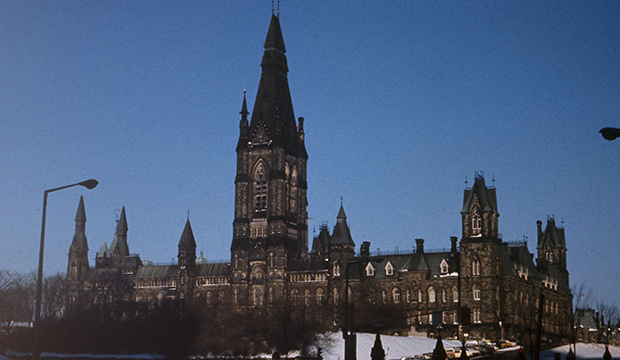 Parliament Hill in Ottawa, Ontario, is seen in 1972.