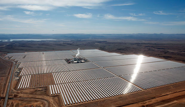 Ouarzazate solar plant in central Morocco is billed as the world's biggest, seen here on February 4, 2016.