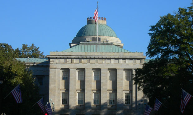 The North Carolina State Capitol stands in Raleigh on November 7, 2010.