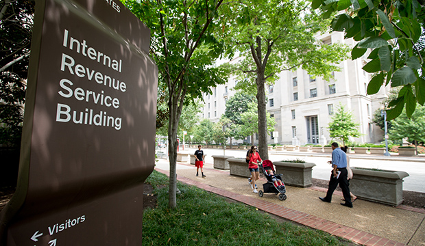 The Internal Revenue Service Building, is seen on August 19, 2015, in Washington.