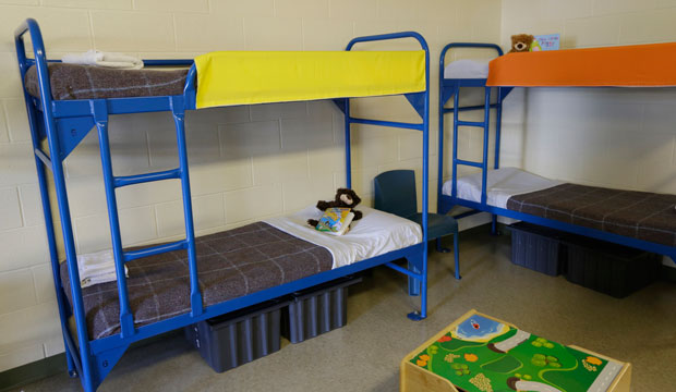 Bunk beds are seen at a Texas detention center on July 31, 2014.