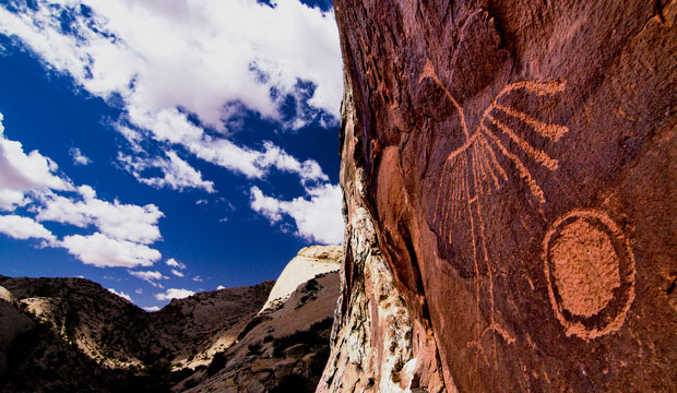 A petroglyph graces the Comb Ridge in the Bears Ears region.