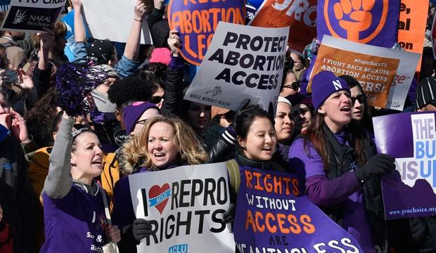 Pro-abortion rights protestors