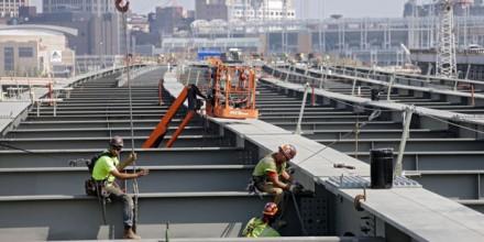ironworkers on bridge