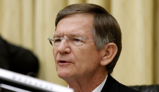 Rep. Lamar Smith (R-TX) speaks on Capitol Hill in Washington, D.C., in June 2012.