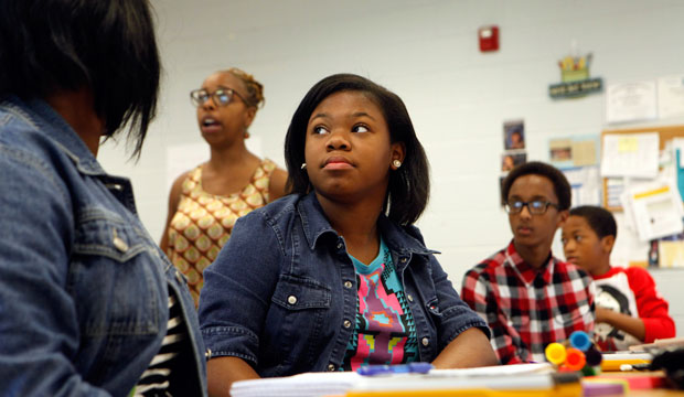 High school students attend a statistics class at Westlake High School in Atlanta, on June 13, 2013.