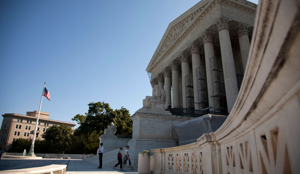 A view of the U.S. Supreme Court in Washington, June 27, 2012.
