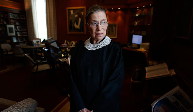 U.S. Supreme Court Justice Ruth Bader Ginsburg in her chambers in Washington, D.C., on July 24, 2013.