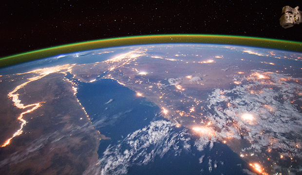NASA astronaut Scott Kelly's photograph of the Nile River from space in September 2015.