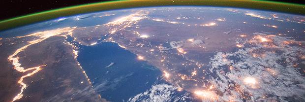 NASA space station shot
