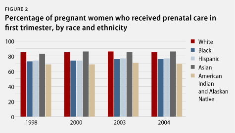 percentage of pregnant women who received prenatal care in the first trimester