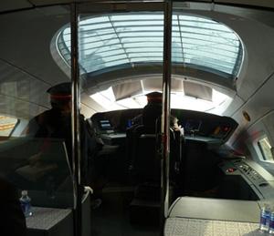 train operator's cockpit