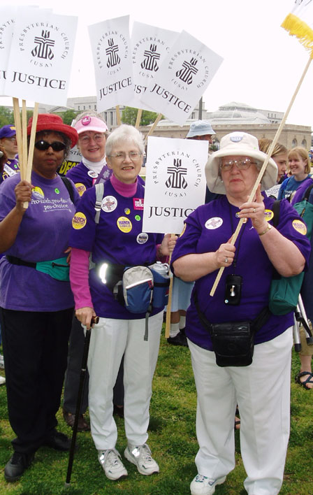 March for Women's Lives: The Presbyterian Church