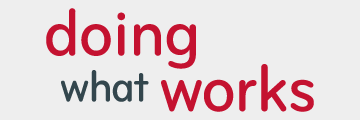 Doing What Works Logo