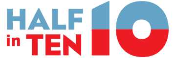 Half in Ten Logo